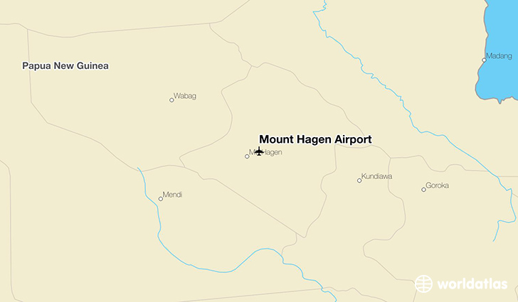 Mount Hagen Airport location on a map