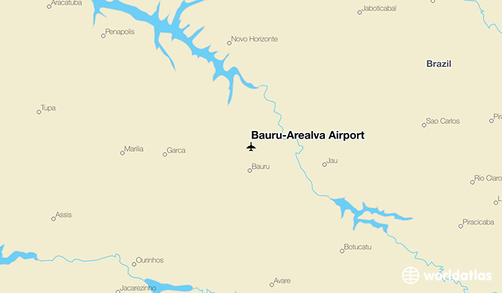 Bauru-Arealva Airport location on a map