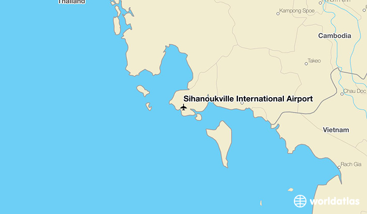 Sihanoukville International Airport location on a map