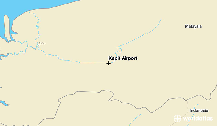 Kapit Airport location on a map