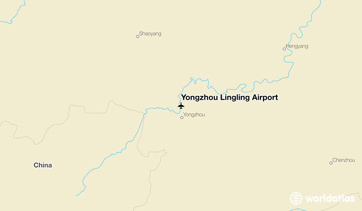 Yongzhou Lingling Airport location on a map