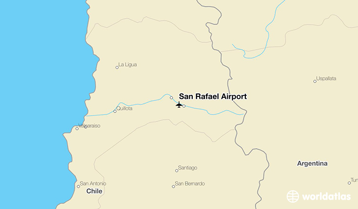 San Rafael Airport location on a map