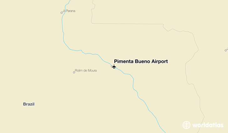 Pimenta Bueno Airport location on a map