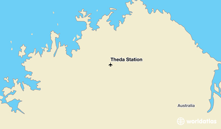 Theda Station location on a map