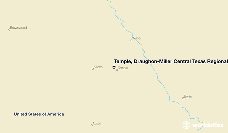 Temple, Draughon-Miller Central Texas Regional Airport location on a map