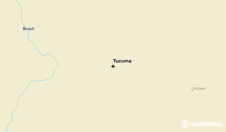 Tucuma location on a map