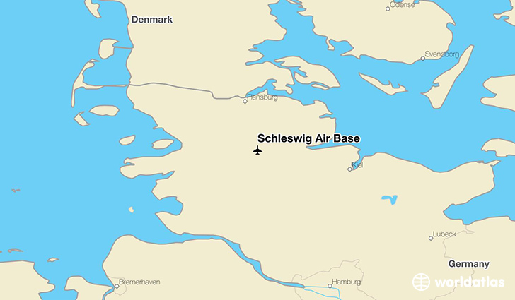 Schleswig Air Base location on a map