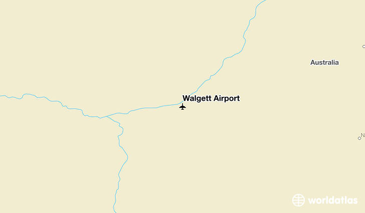 Walgett Airport location on a map