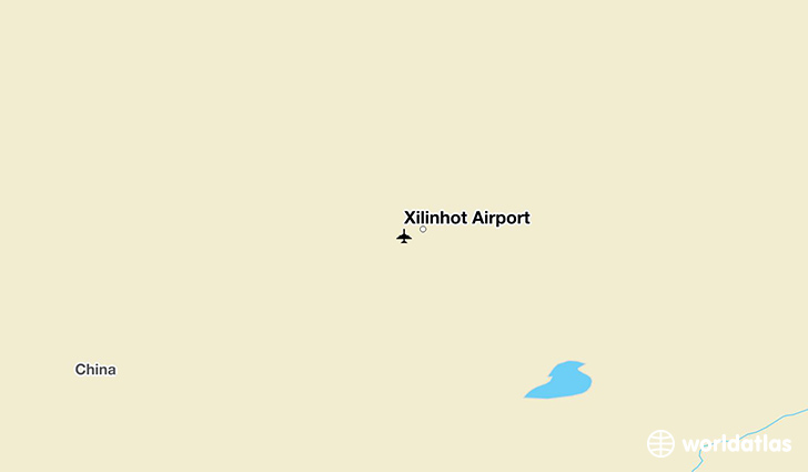 Xilinhot Airport location on a map