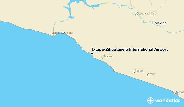 Ixtapa-Zihuatanejo International Airport location on a map