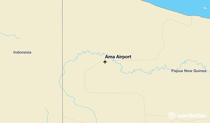 Ama Airport location on a map