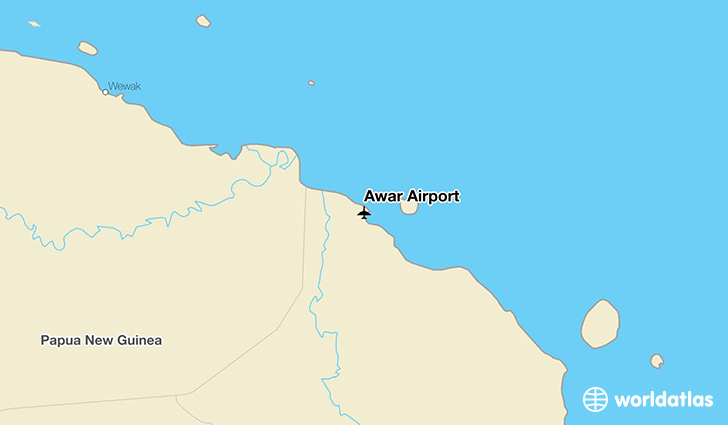 Awar Airport location on a map