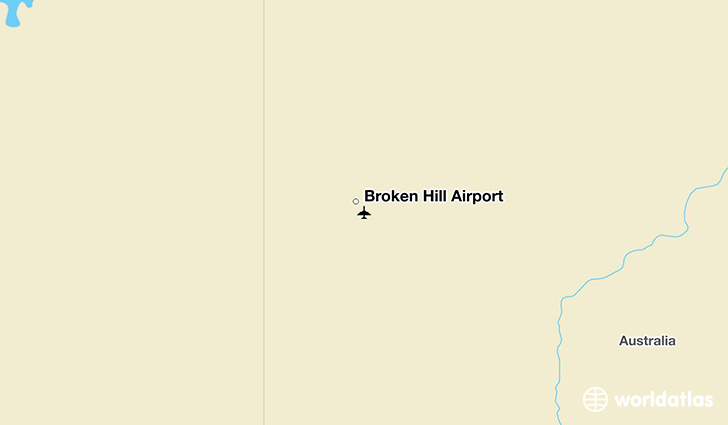 Broken Hill Airport location on a map