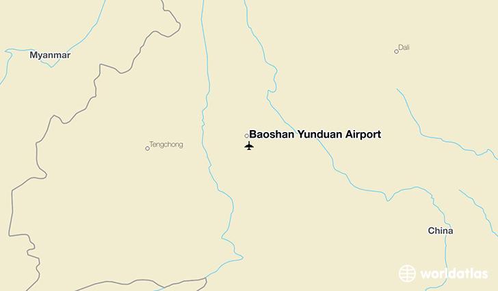 Baoshan Yunduan Airport BSD WorldAtlas - Baoshan map