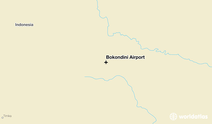 Bokondini Airport location on a map