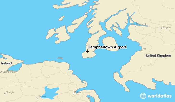 Campbeltown Scotland Map.Campbeltown Airport Cal Worldatlas