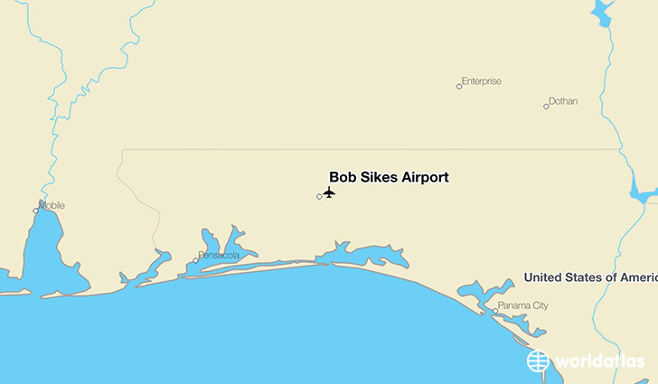 Bob Sikes Airport location on a map