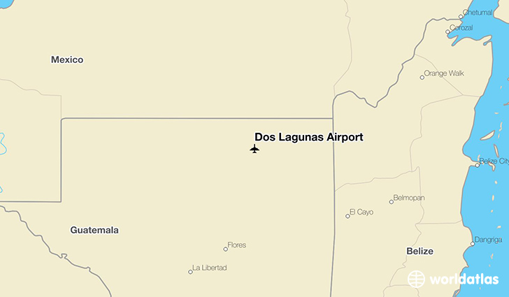Dos Lagunas Airport location on a map