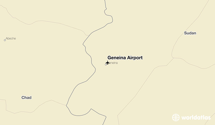 Geneina Airport location on a map