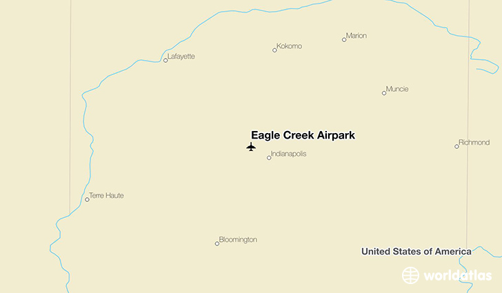 Eagle Creek Airpark location on a map