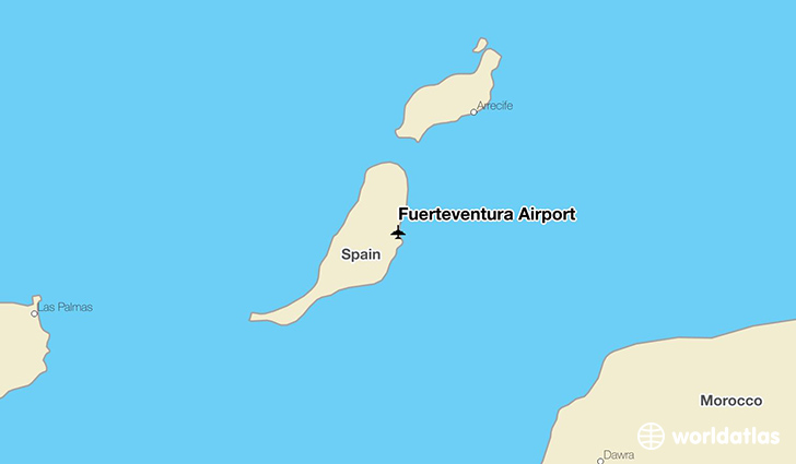 Fuerteventura Airport location on a map