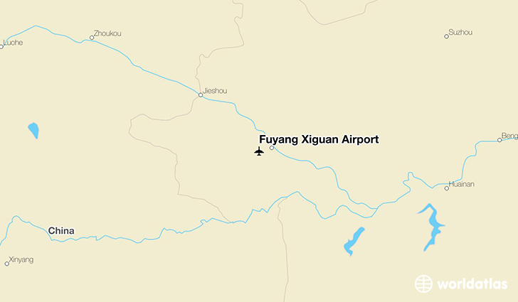 Fuyang Xiguan Airport location on a map