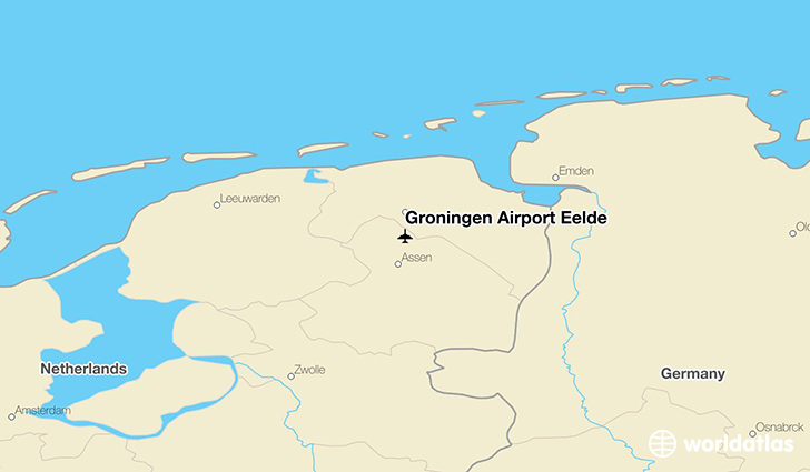 Groningen Airport Eelde location on a map