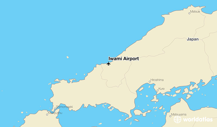Iwami Airport location on a map
