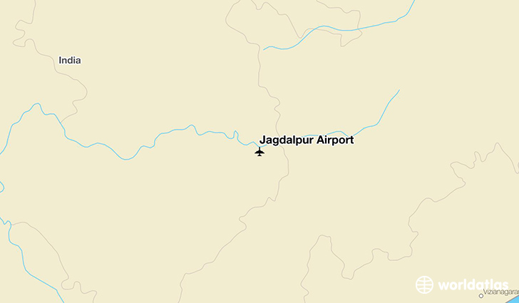 Jagdalpur Airport location on a map