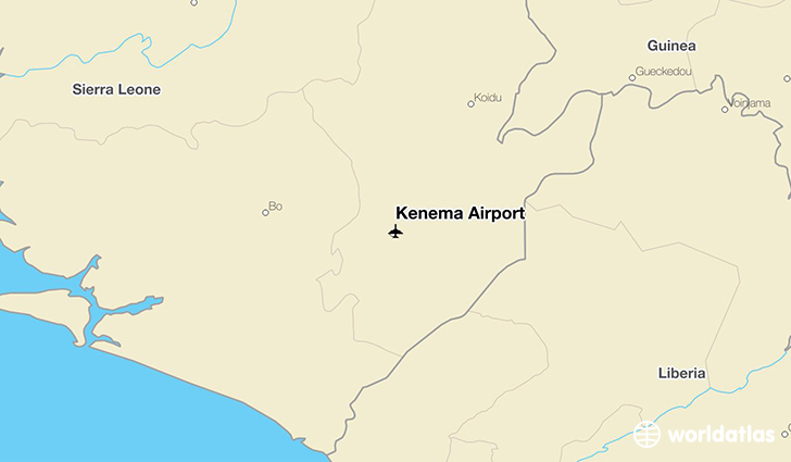 Kenema Airport location on a map