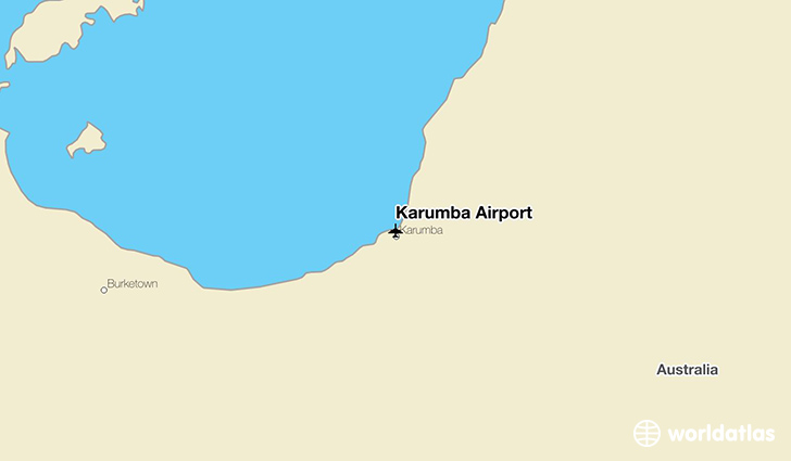 Karumba Airport location on a map