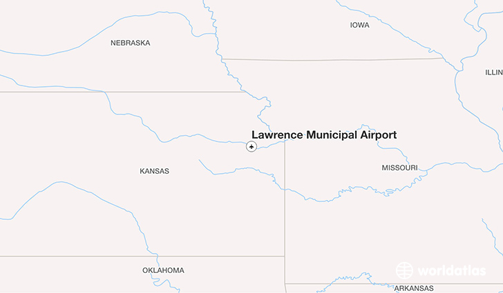 Lawrence Municipal Airport location on a map