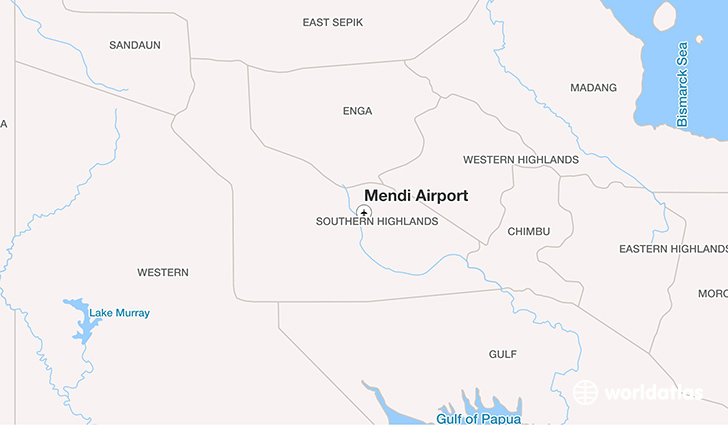Mendi Airport location on a map