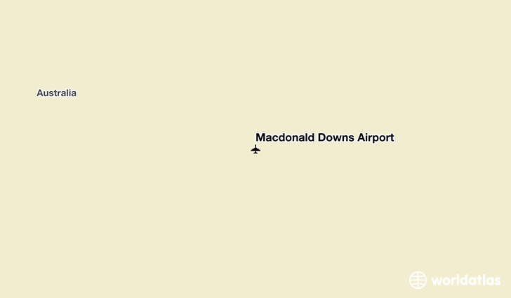 Macdonald Downs Airport location on a map