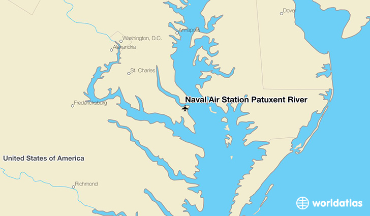 Naval Air Station Patuxent River location on a map