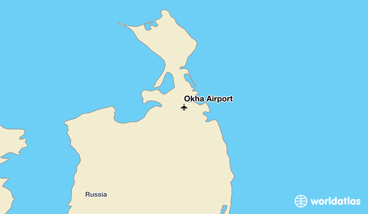 Okha Airport location on a map