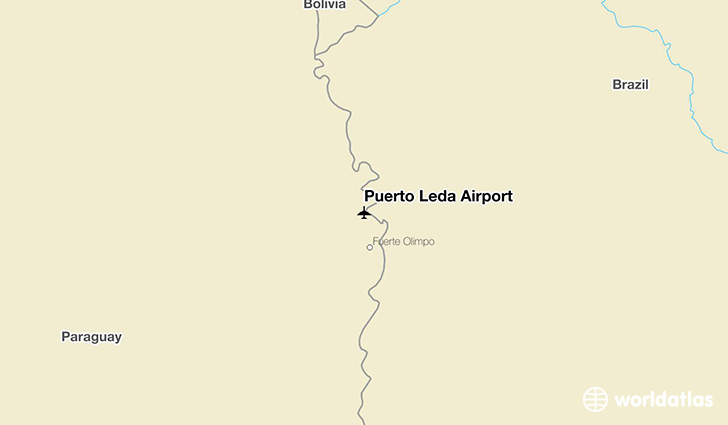 Puerto Leda Airport location on a map