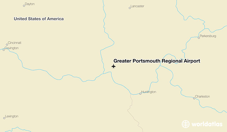 Greater Portsmouth Regional Airport location on a map