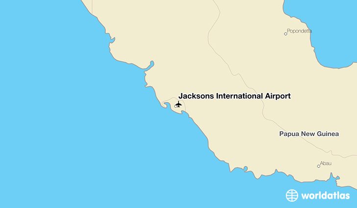 Jacksons International Airport location on a map