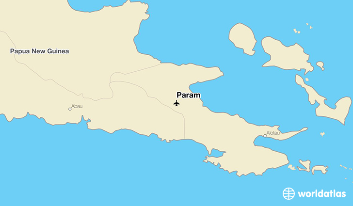 Param location on a map