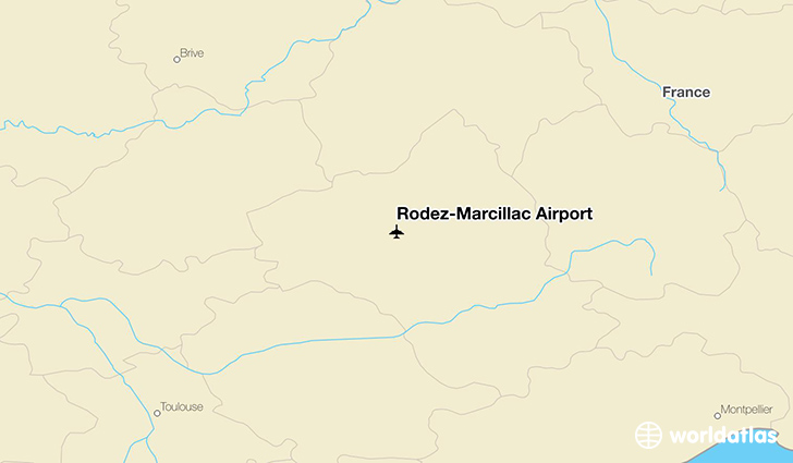 Rodez-Marcillac Airport location on a map