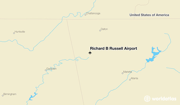 Richard B Russell Airport location on a map