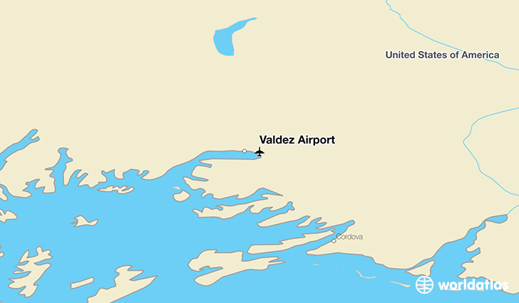 Valdez Airport location on a map