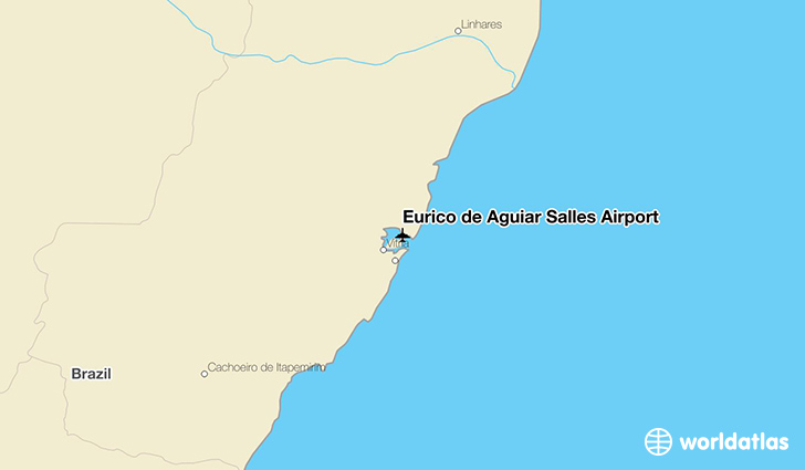Eurico de Aguiar Salles Airport location on a map