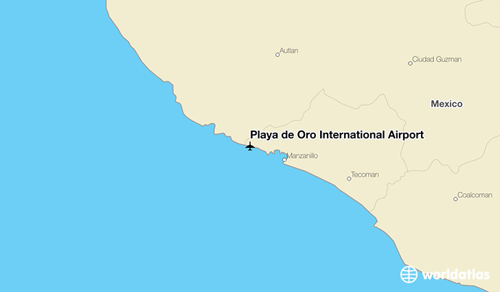 Playa de Oro International Airport location on a map