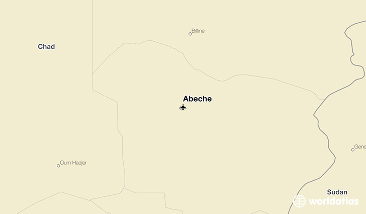 Abéché location on a map