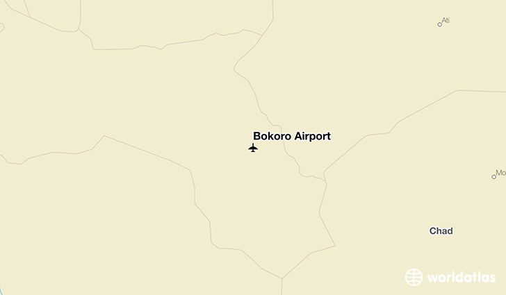Bokoro Airport location on a map