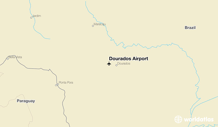 Dourados Airport location on a map