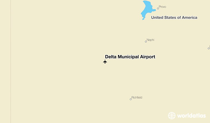 Delta Municipal Airport location on a map