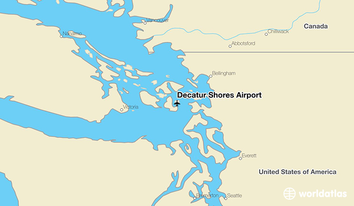 Decatur Shores Airport location on a map